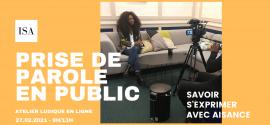 Atelier en ligne : prise de parole en public